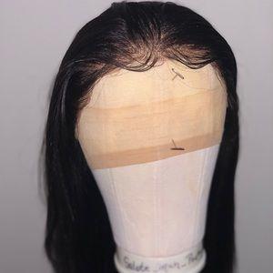 100% brazillian straight human hair frontal wig